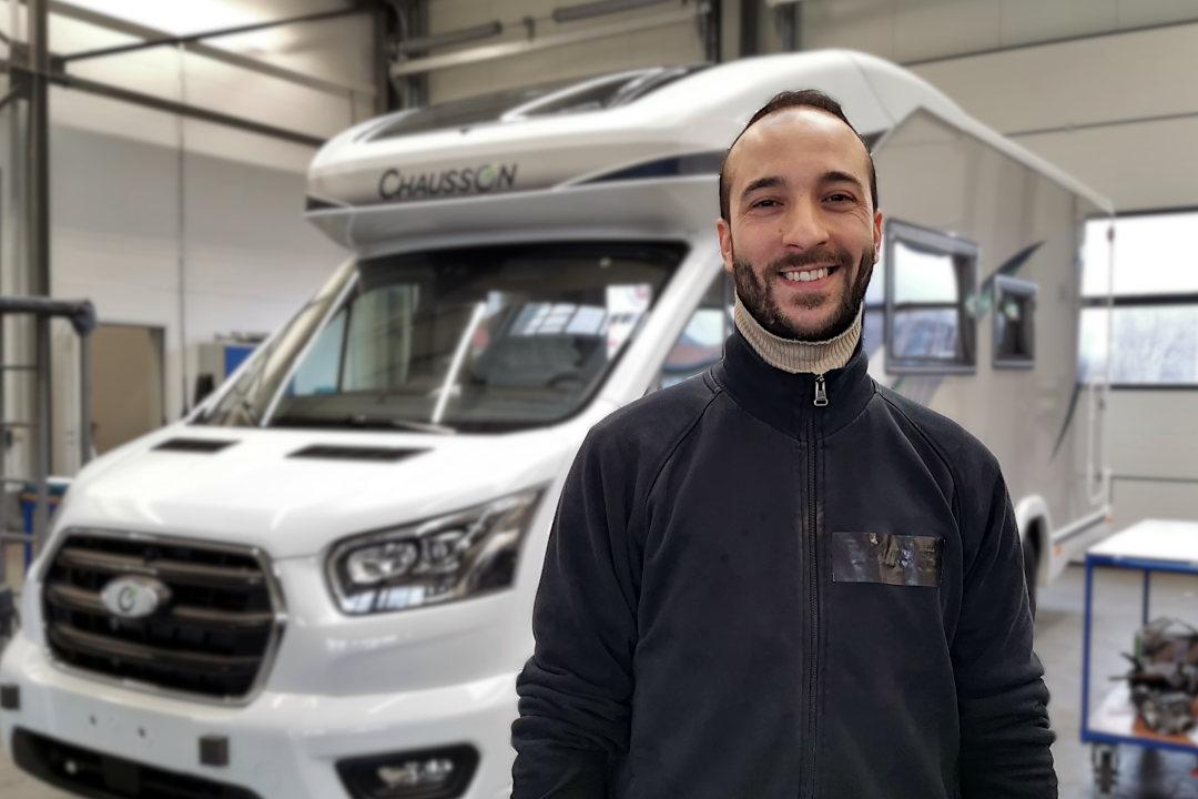 Ioannis Ntallas, Mitarbeiter vom Autohaus am Damm