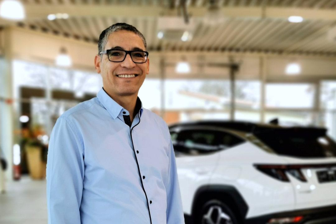 Samir Jemni, Mitarbeiter im Autohaus am Damm