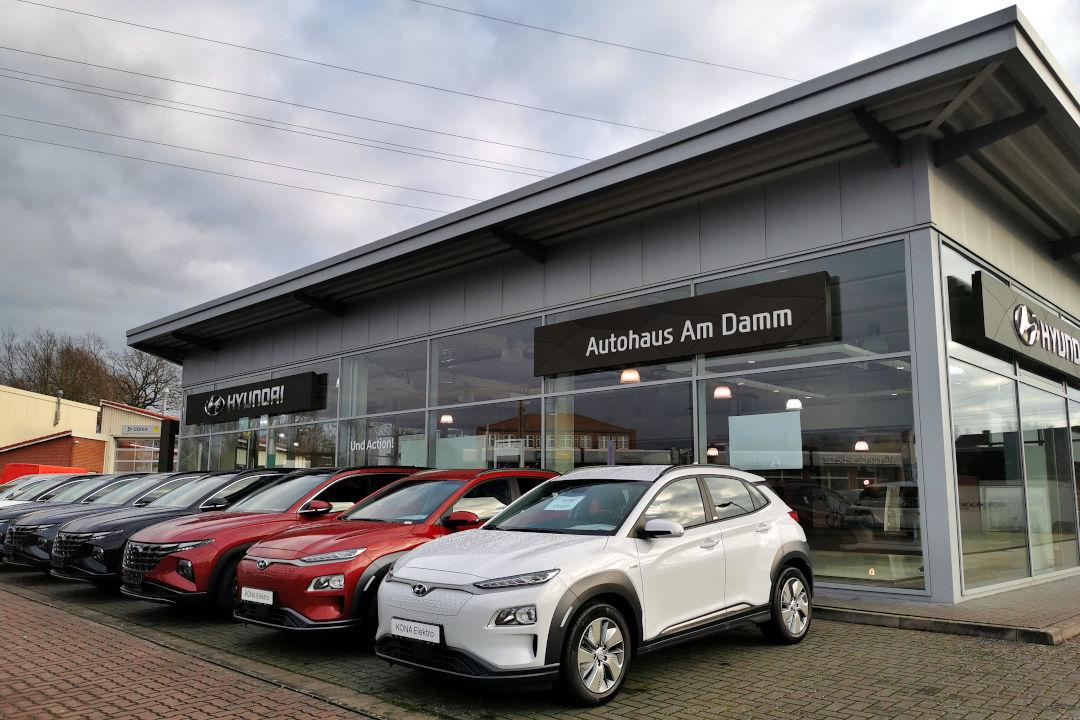 Hyundai Fahrzeugbestand vom Autohaus am Damm finden Sie IONIQ 5, KONA, i30 u. v. m. - Neu und gebraucht mit Garantie