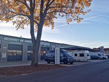 Standorte der Filialen vom Autohaus am Damm: Nummer 4 beherbergt Fiat Professional, eine Multimarken-Transporter Werkstatt, Carbeauty und Wohnmobile
