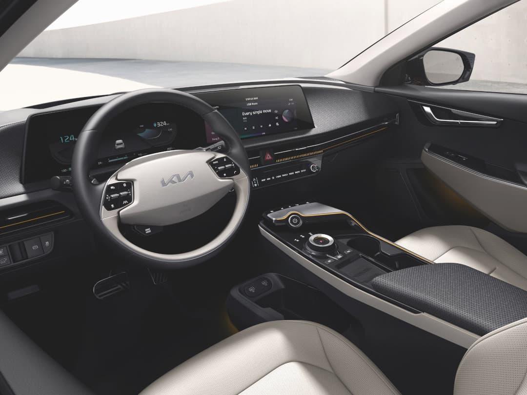 Der Kia EV6 bietet viel Beinfreiheit