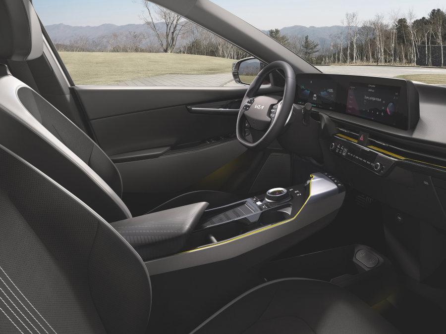 Innenraum vom EV6 GT-Line - sportlicher als die Basisversion aber genauso nachhaltig